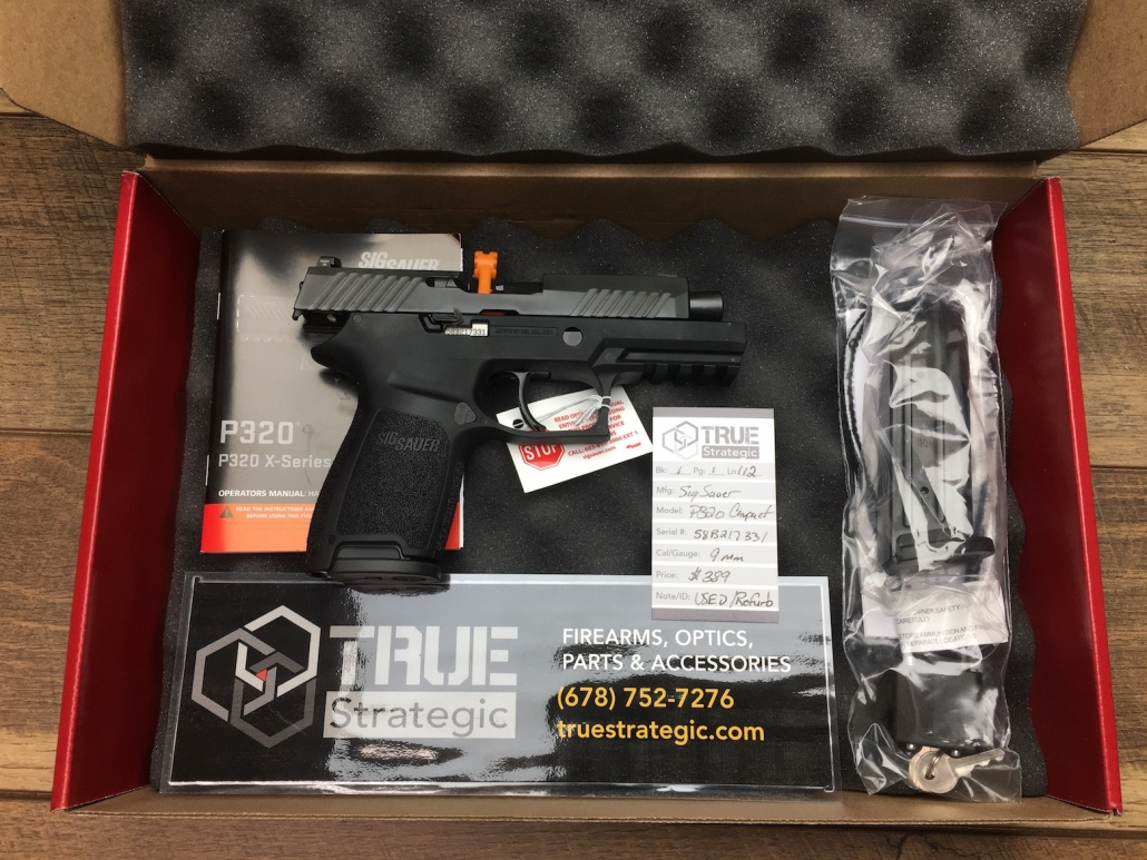 GONE- MORE COMING USED Sig Sauer P320 COMPACT 9MM 15+1 Night